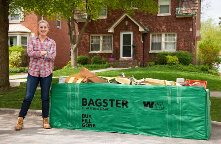 DISCOVER THE JOY OF GONE Say goodbye to clutter and debris with the Bagster® bag.